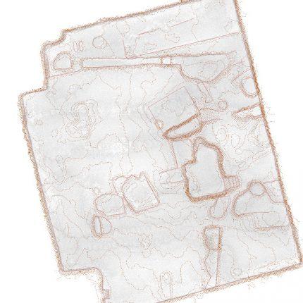 Situační pohled na jámu s vykopávkami