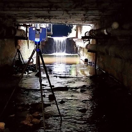 skenování potoka