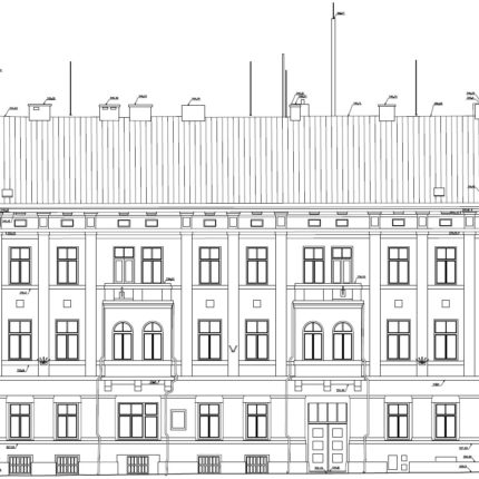 3D skenování fasády na rušné ulici
