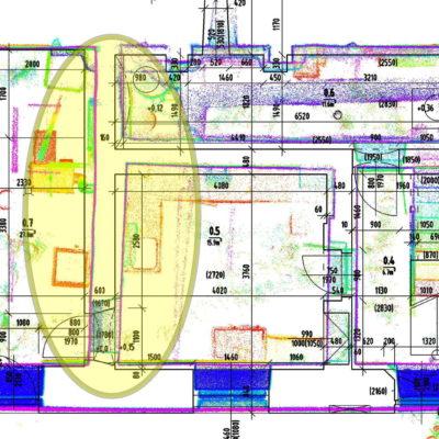 Porovnání přesnosti klasického zaměření stavby a 3D skenování – příklad na venkovském stavení